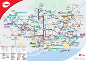 plan de Metro Barcelone